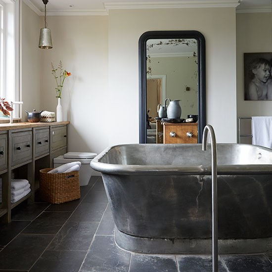Housetohome Co Uk: Modern Bathroom With Oversized Bath