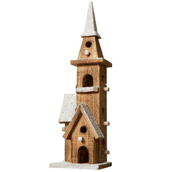Outside Christmas Lights John Lewis: Small Prelit Church Decoration From John Lewis