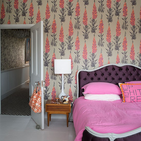 Pink And Purple Bedroom With French Bed Bedroom Decorating