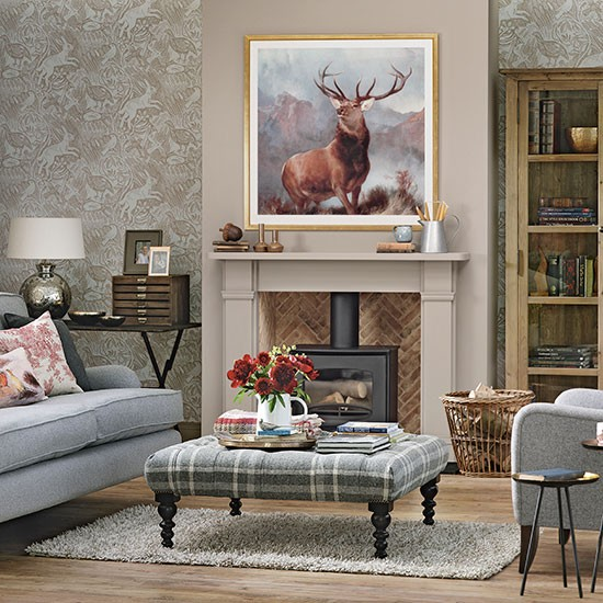 woodland theme country living room living room decorating