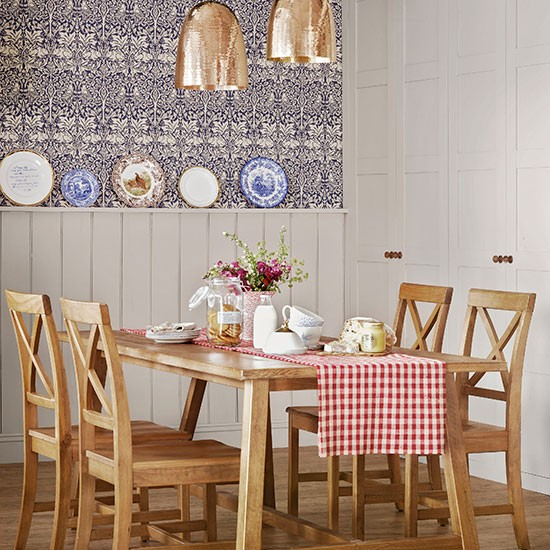 country style dining room with panelling dining room decorating