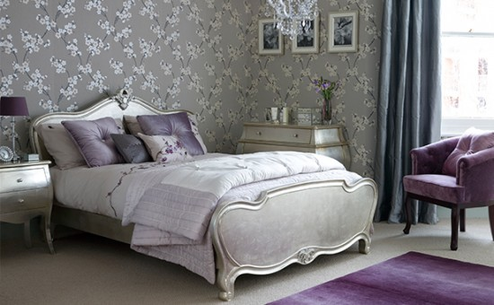 Purple and silver bedroom purple bedroom ideas for Purple and silver bedroom designs