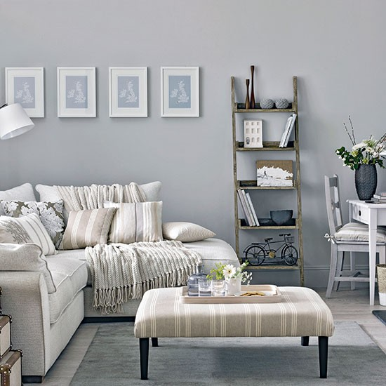 Stylish Mid grey Living Room Decorating
