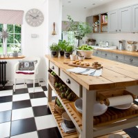 Check out this grey country kitchen