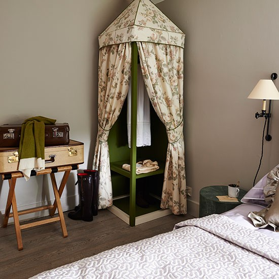 Bedroom With Floral Tented Wardrobe Bedroom Decorating