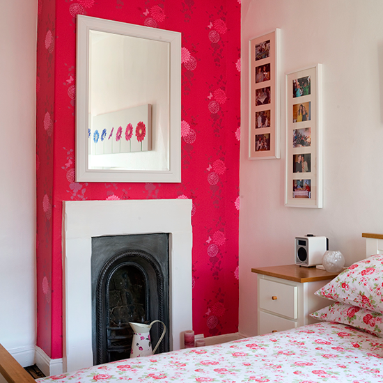 Wallpapered Chimney Breast How To Decorate With Colour