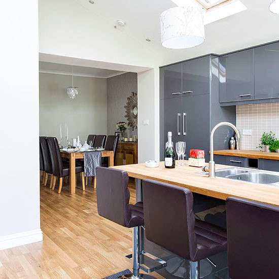 Kitchen dining areas house tour edwardian house in for Terrace kitchen diner