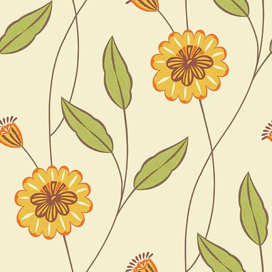 Moorish garden wallpaper from fired earth living room for Home wallpaper fired earth