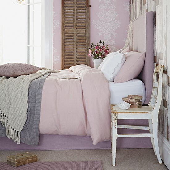 Delicate pink bedroom| Country bedroom design ideas | Bedroom | PHOTO GALLERY | Country Homes and Interiors | Housetohome.co.uk