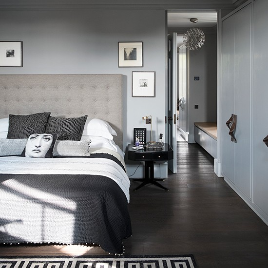 Traditional Bedroom In Shades Of Grey