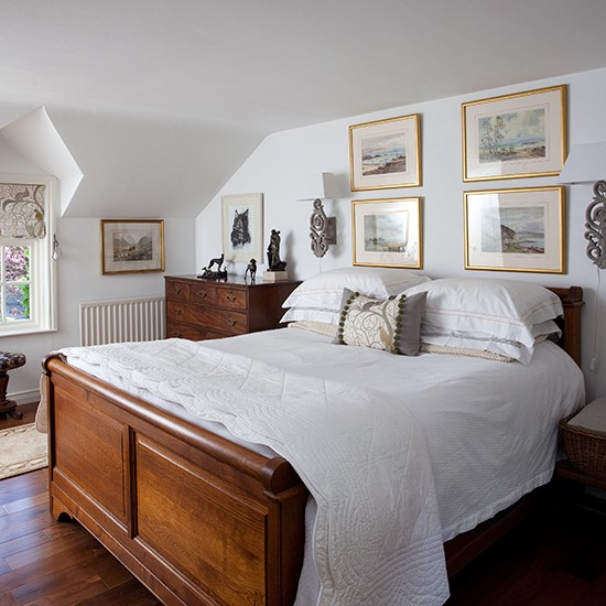 White bedroom with antique bed | Traditional bedroom design ideas | Bedroom | PHOTO GALLERY | Housetohome.co.uk