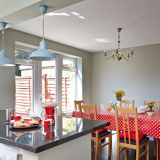 Grey and red kitchen diner  Kitchen decorating  Style at Home