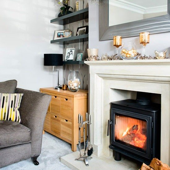 Living room mantelpiece | 1930s Surrey semi | House Tour | PHOTO GALLERY | Ideal Home | Housetohome.co.uk