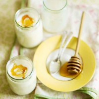 Homemade yogurt with honey