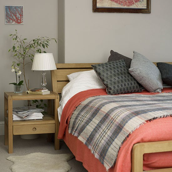 coral and grey bedroom bedroom decorating ideal home housetohome