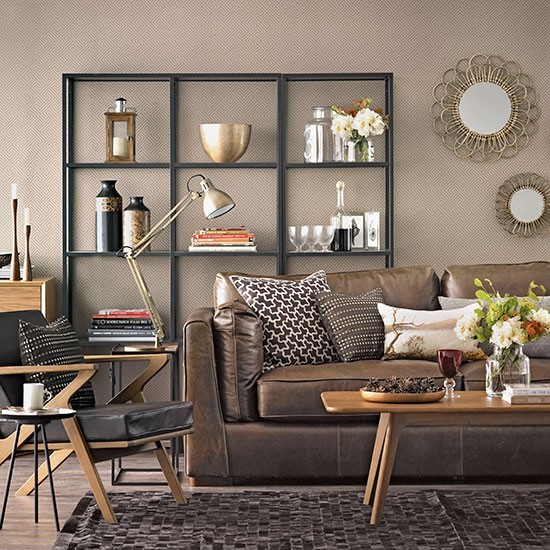 Chocolate Brown Living Room Decorating