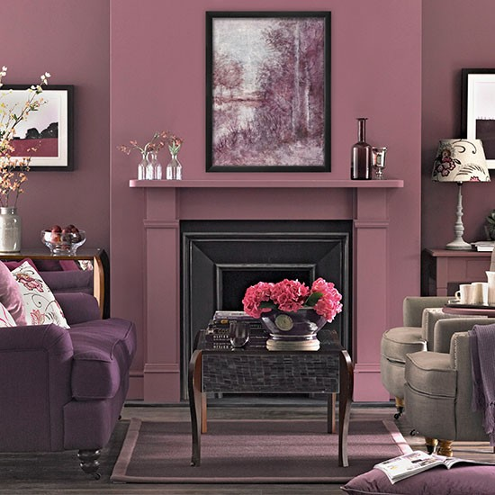 plum tones living room living room decorating