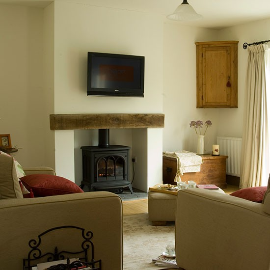 Family room house tour carmarthenshire longhouse New build living room designs