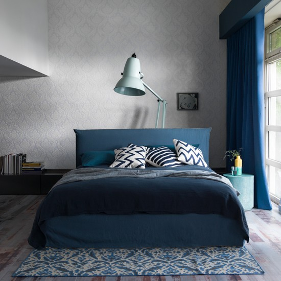 Modern bedroom pictures house to home - Modern bedroom blue ...