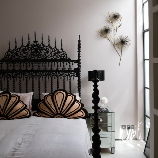 modern bedroom with gothic bed modern bedroom design