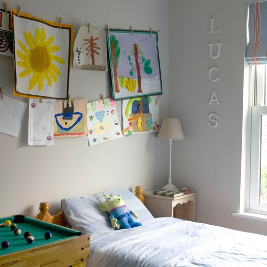 Child's bedroom with easy art gallery | Budget children's room design ideas | PHOTO GALLERY | Ideal Home | Housetohome.co.uk