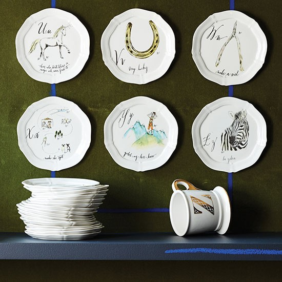 Calligrapher canap plates from anthropologie modern for Calligrapher canape plate