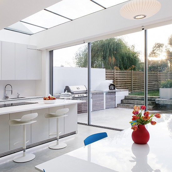 Smart white kitchen extension kitchen extension design for Kitchen ideas extension