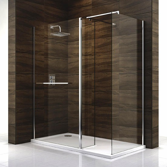 cascata shower screen and tray from b q walk in showers