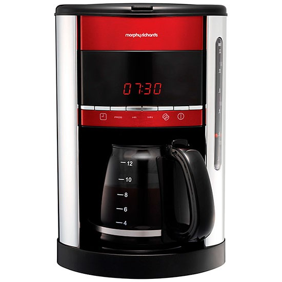 Accents Red Filter coffee maker from Morphy Richards Coffee machines Shopping housetohome ...