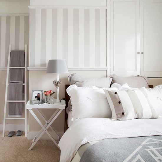 White and grey bedroom | House tour | PHOTO GALLERY | Ideal Home | Housetohome.co.uk