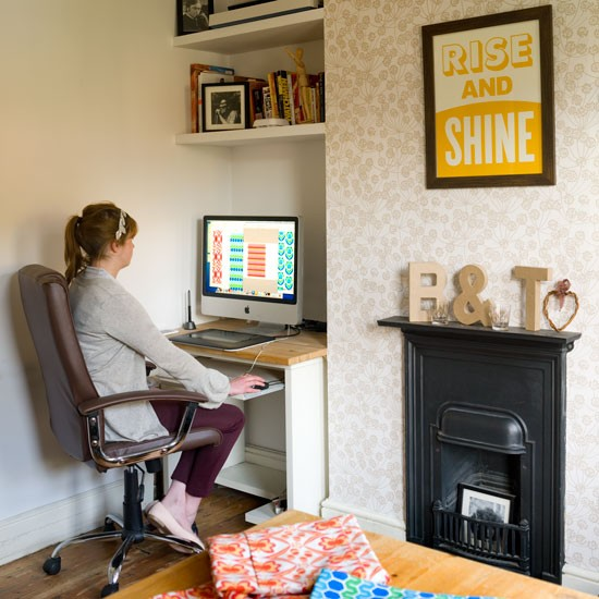 Alcove Office London Terrace House Tour Housetohome