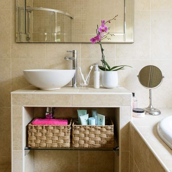 Compact hotel-style bathroom  Small bathroom design ideas  Bathroom ...