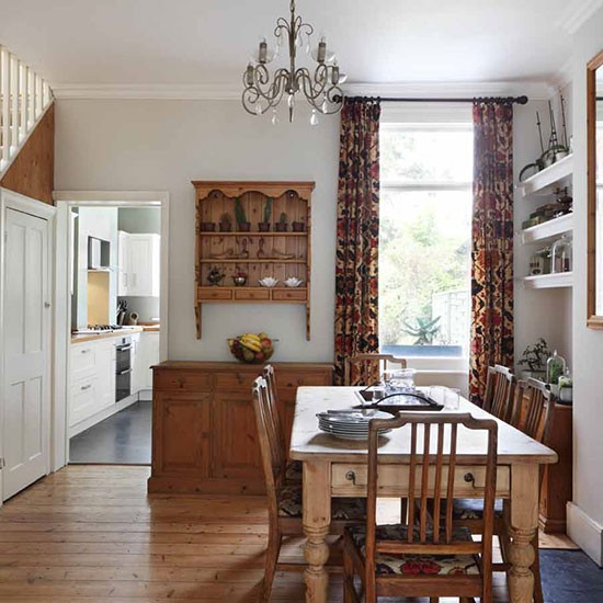 Dining room london terraced house house tour for Dining room designs uk