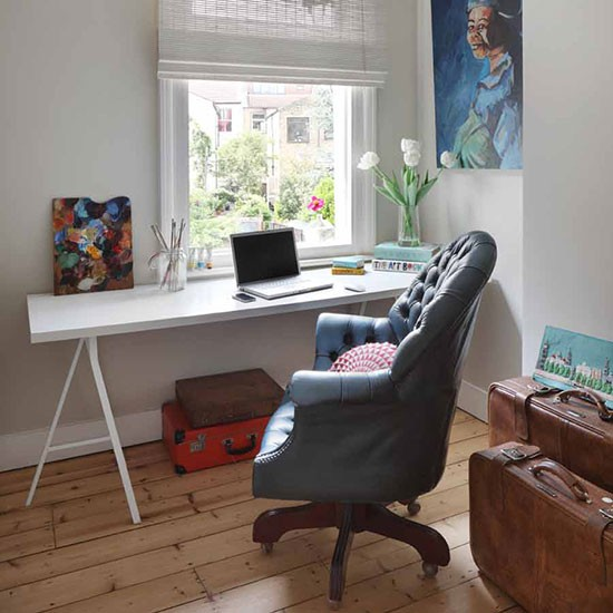 Home office | London terraced house | House tour | PHOTO GALLERY | 25 Beautiful Homes | Housetohome.co.uk