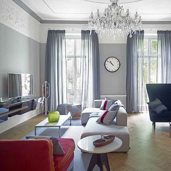 Living Room With Tv: Renovated Victorian London Home
