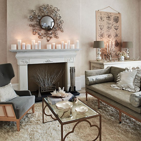 Soft grey and cream living room | Living room decorating | Homes and Gardens | Housetohome.co.uk