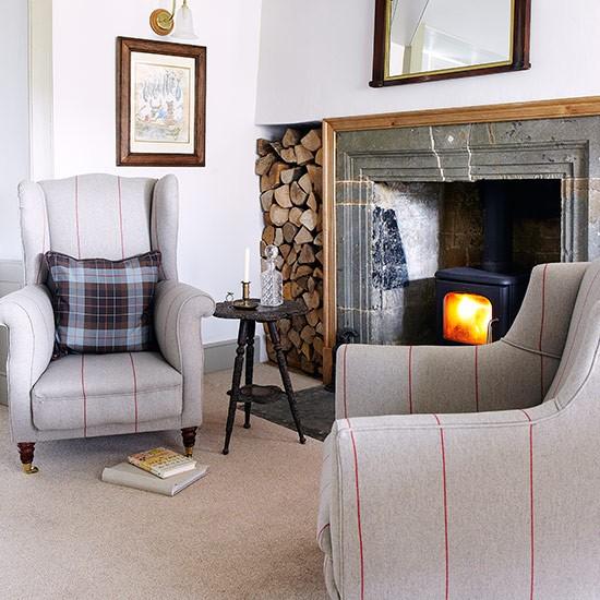 Classic fireside chairs | Country living room design ideas | Living room | PHOTO GALLERY | Country Homes and Interiors | Housetohome.co.uk