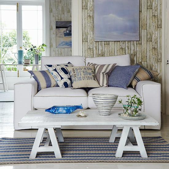 Cool white living space | Country living room design ideas | Living room | PHOTO GALLERY | Country Homes and Interiors | Housetohome.co.uk