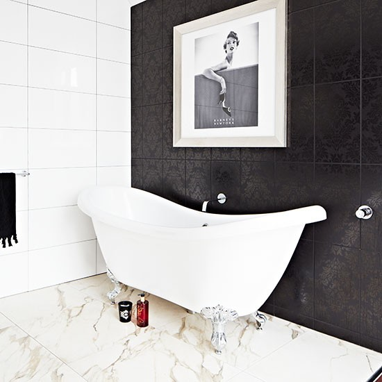 Black Stone Bath : Elegant modern bathroom with black stone wall Bathroom decorating ...