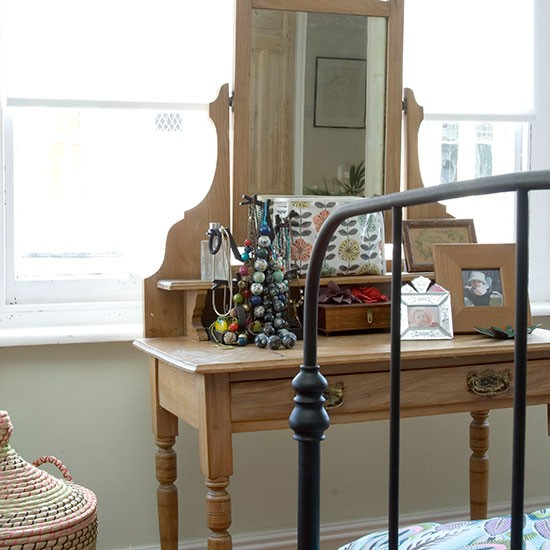 Bedroom With Traditional Pine Dressing Table