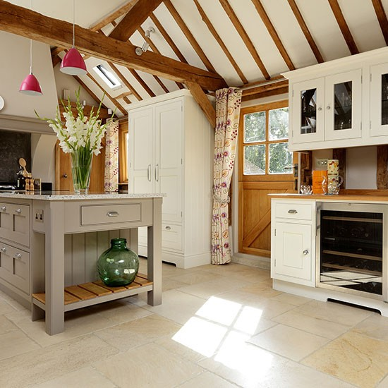 Taupe And Cream Painted Country Kitchen