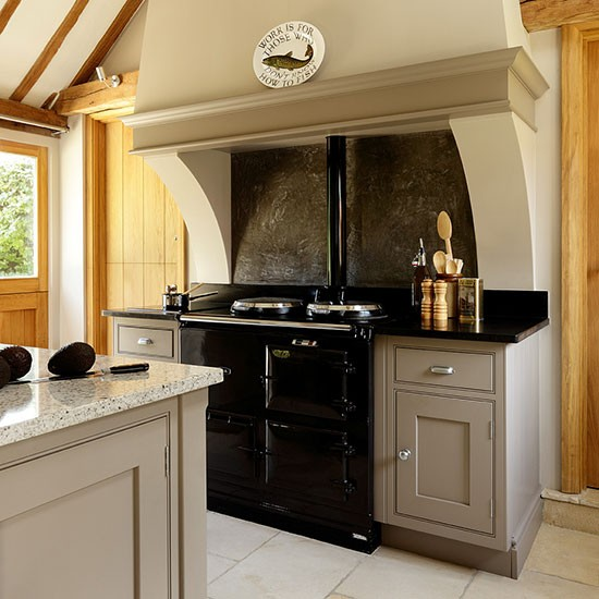 Neutral Country Kitchen With Range Cooker Decorating