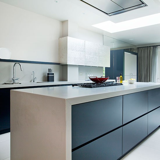 Modern Kitchen With Quartz Composite Worktop Decorating