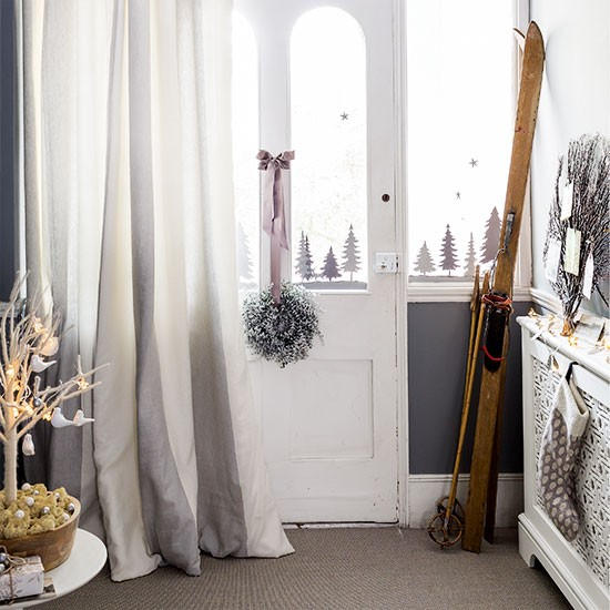 Grey And White Classic Hallway Decorating Housetohome