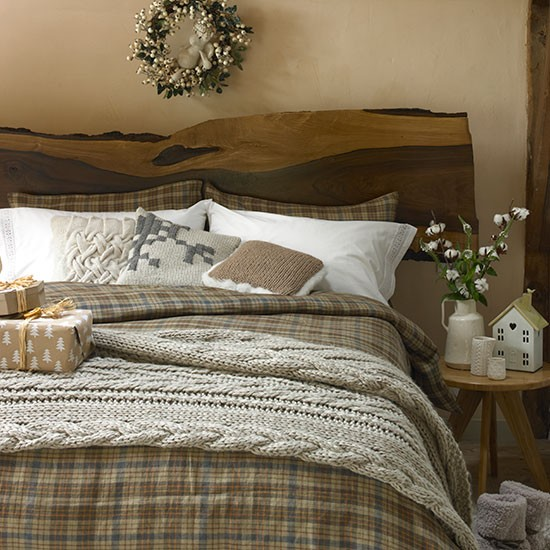 Country Bedroom With Knitted Accessories