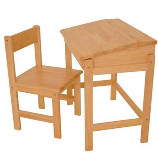Rubberwood Childs Desk Childrens Desks Housetohomecouk