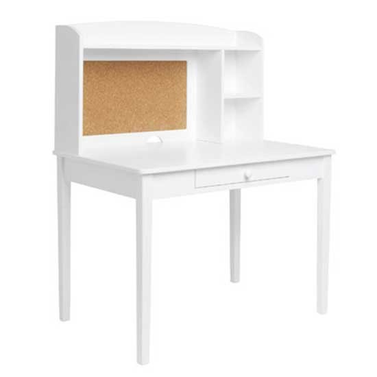 Children's White Desk with Hutch 550 x 550