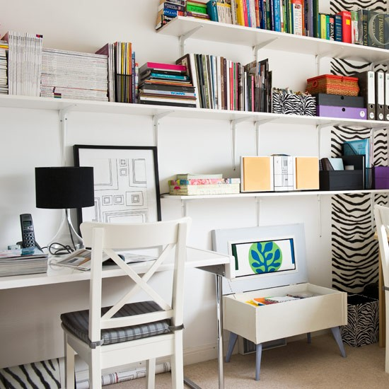 Home Office With Zebra Prints Home Office Design Ideas Home Office