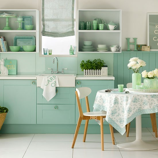Jade Green And White Kitchen How To Decorate With Green