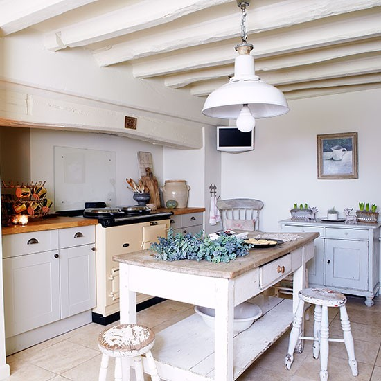 Kitchen period farmhouse in west sussex house tour for Period kitchen design